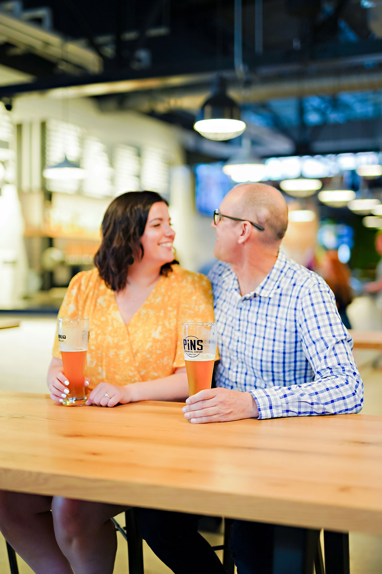 Katie Chuck Bottleworks Canal Indianapolis Engagement Session 060