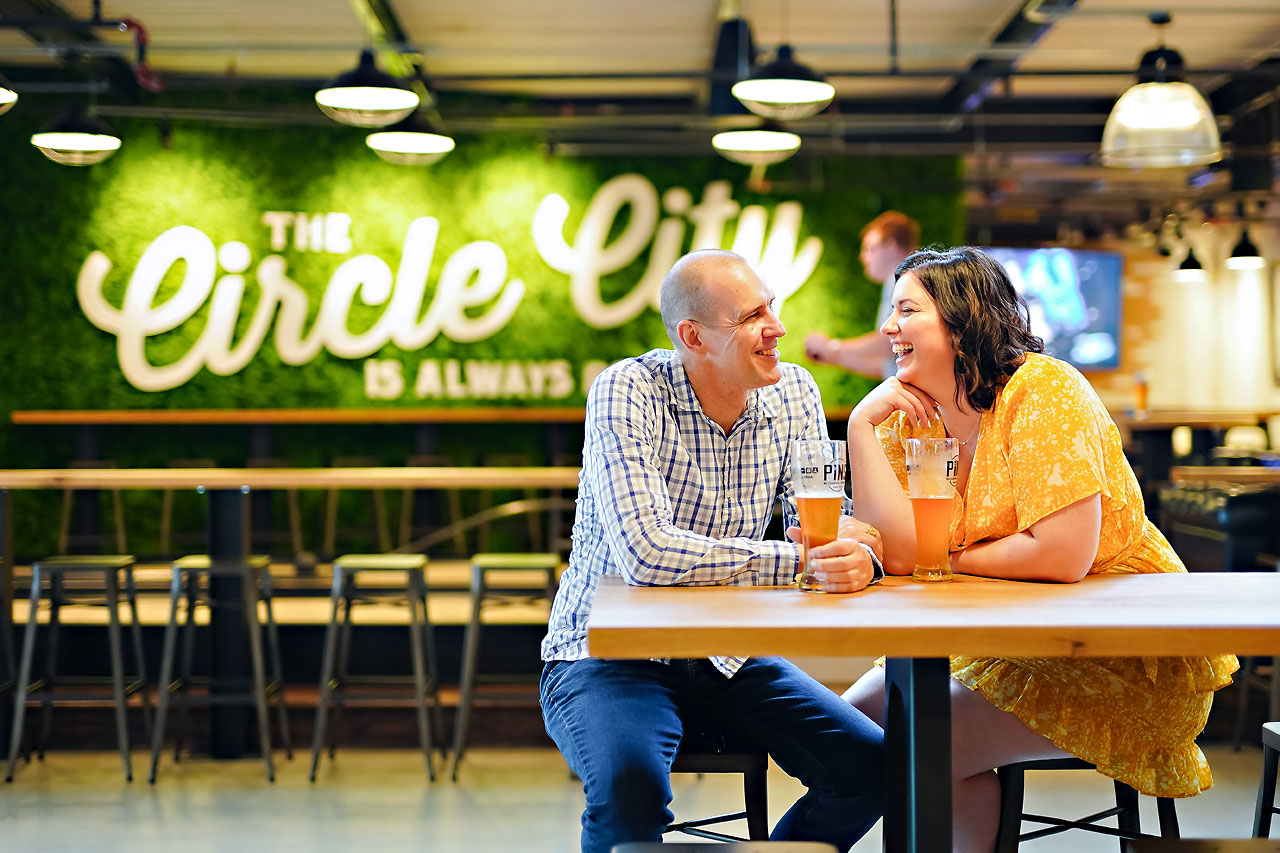Katie Chuck Bottleworks Canal Indianapolis Engagement Session