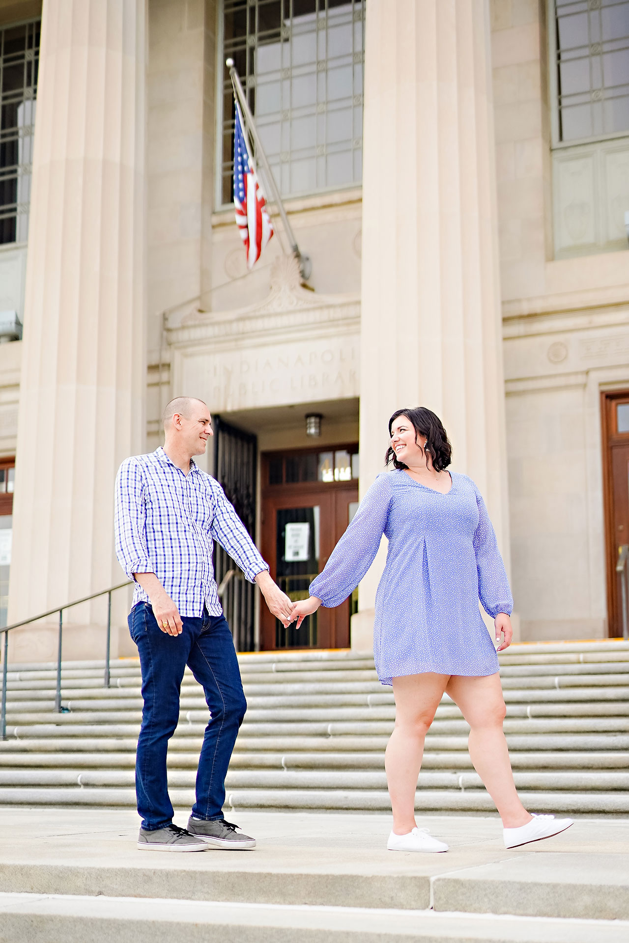 Katie Chuck Bottleworks Canal Indianapolis Engagement Session 077