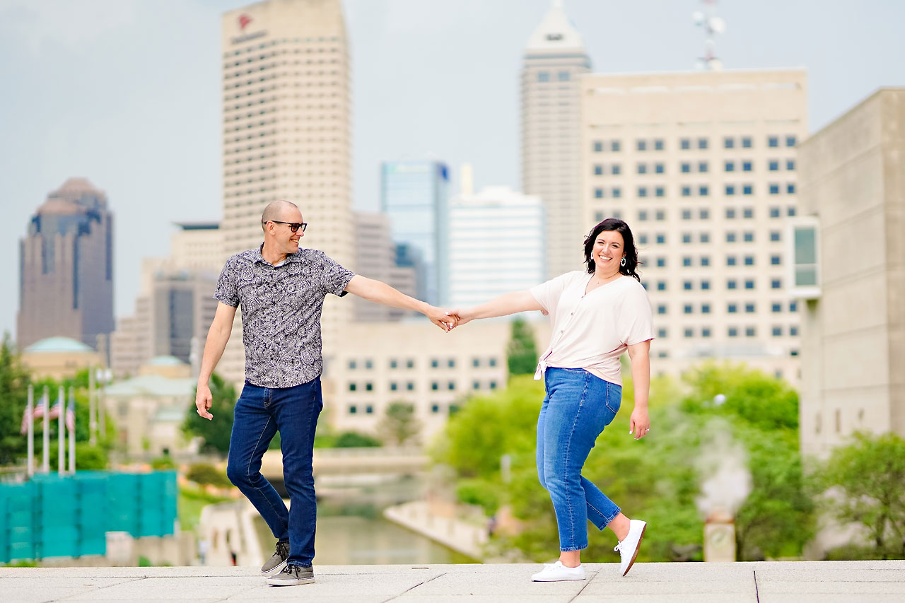 Katie Chuck Bottleworks Canal Indianapolis Engagement Session 085
