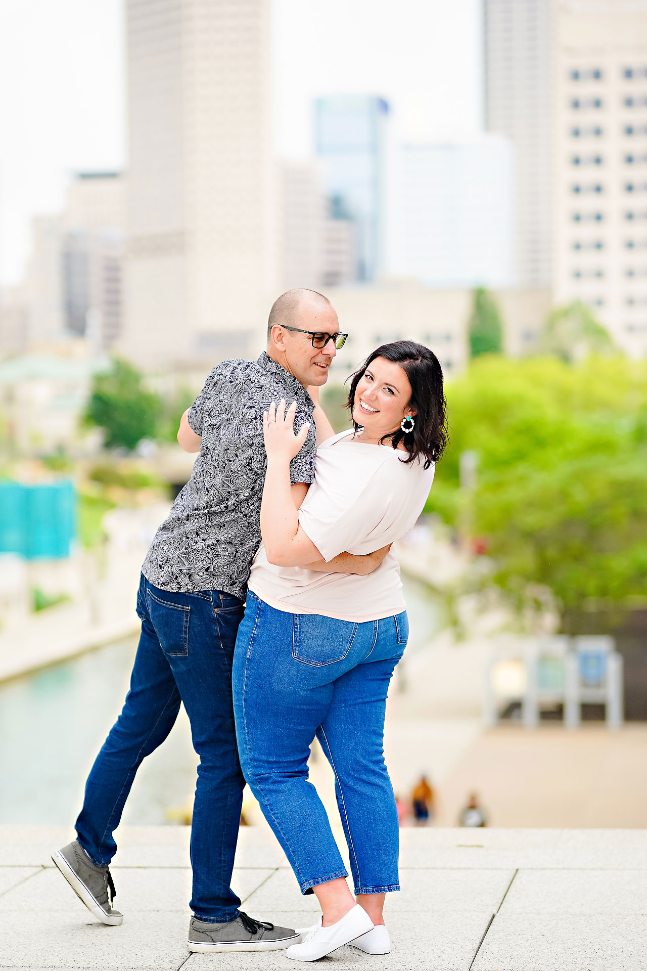 Katie Chuck Bottleworks Canal Indianapolis Engagement Session 092