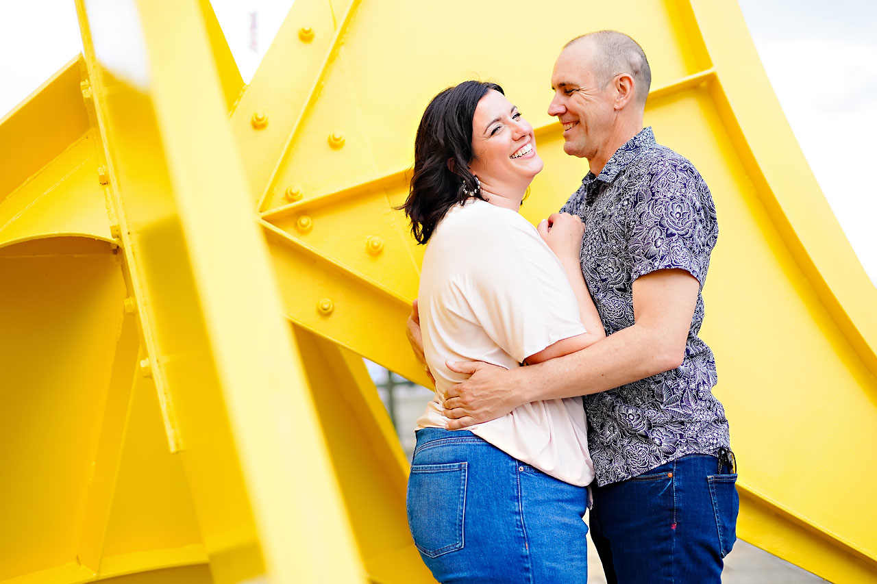 Katie Chuck Bottleworks Canal Indianapolis Engagement Session 099