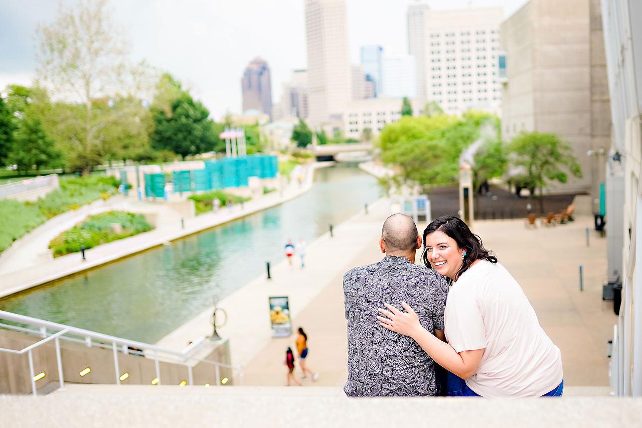 Katie Chuck Bottleworks Canal Indianapolis Engagement Session 102