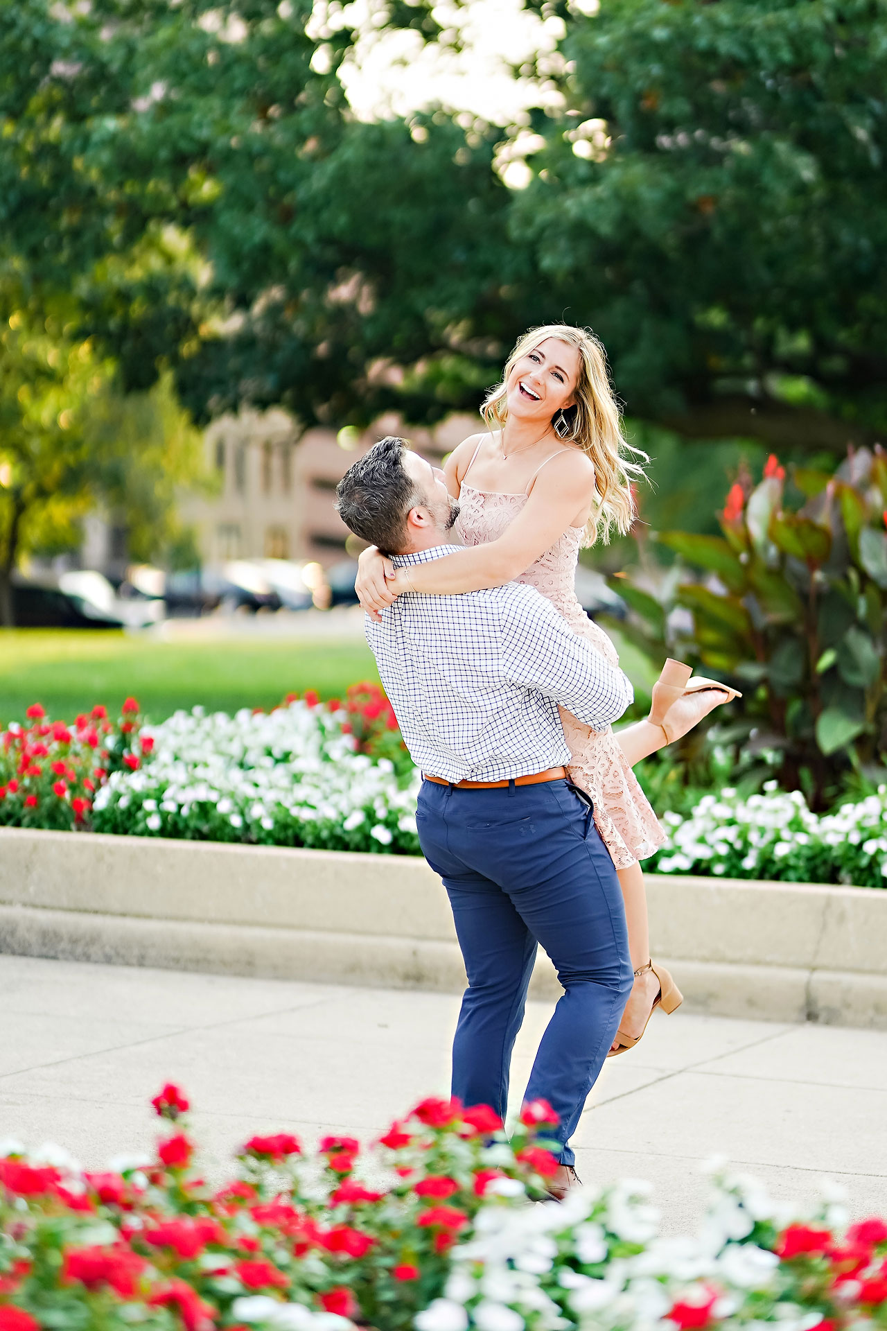 Kendall Jake Downtown Indianapolis Engagement Session 001