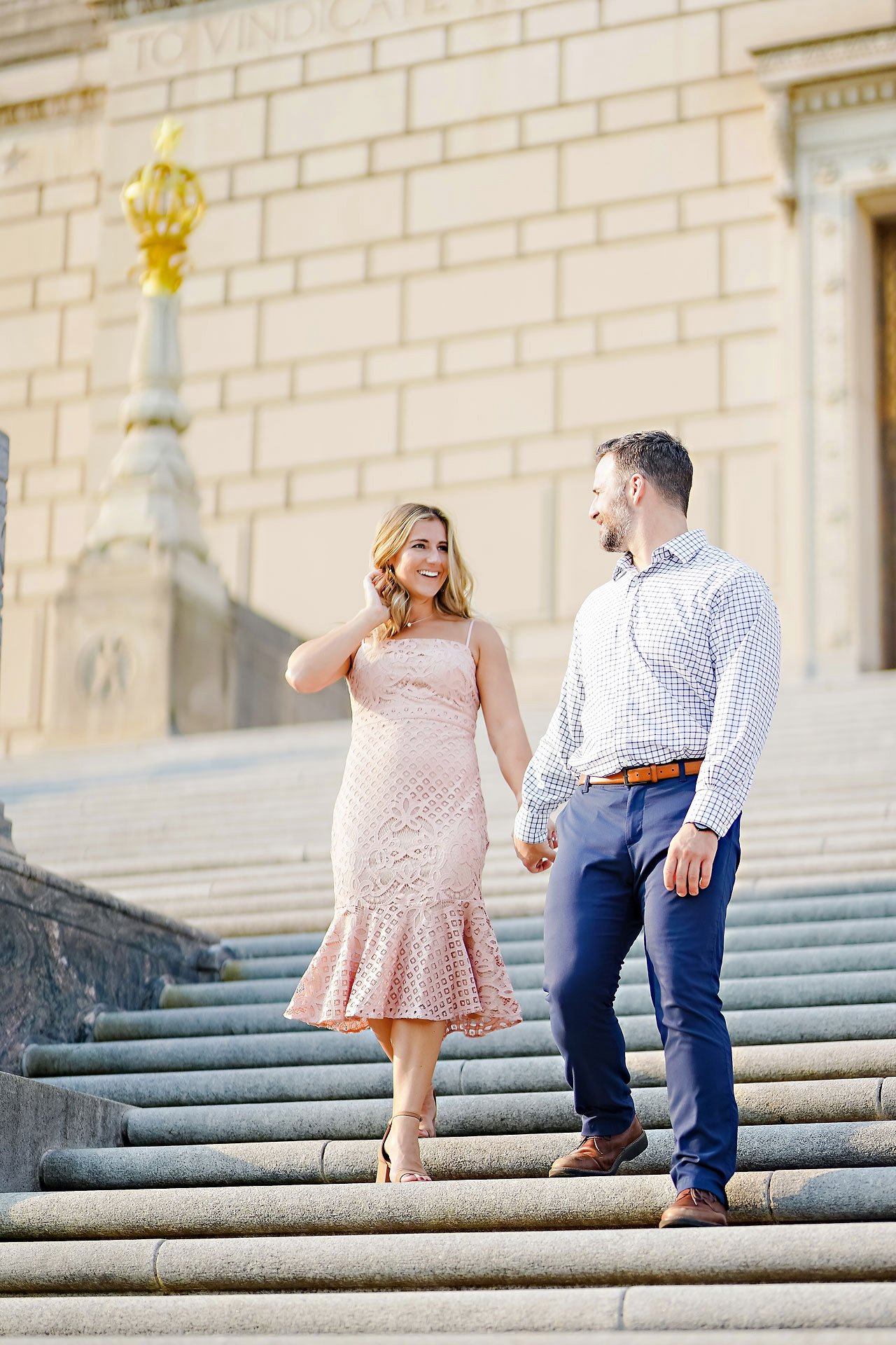 Kendall Jake Downtown Indianapolis Engagement Session 011