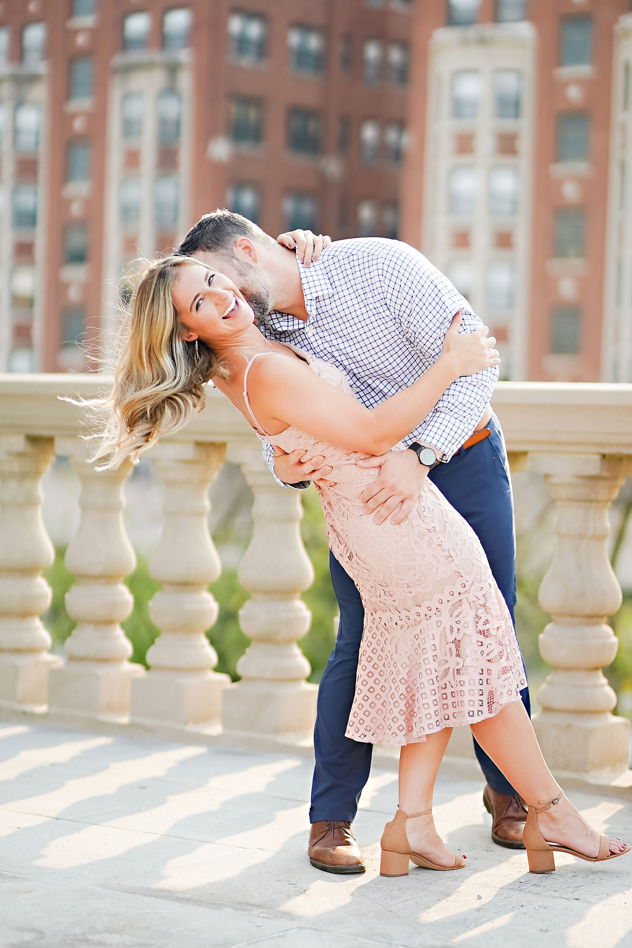 Kendall Jake Downtown Indianapolis Engagement Session 015