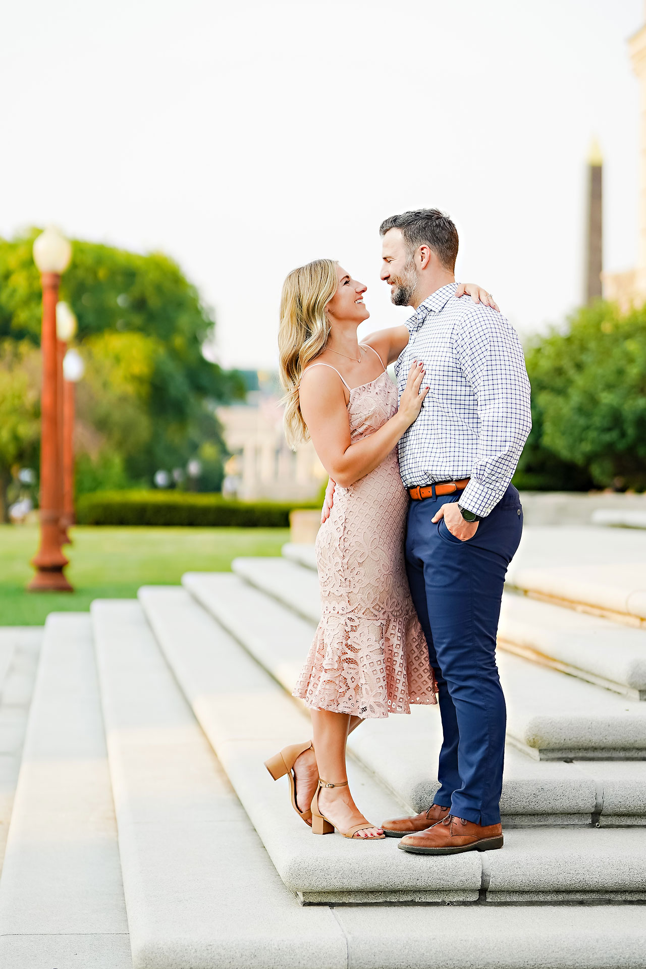 Kendall Jake Downtown Indianapolis Engagement Session 019