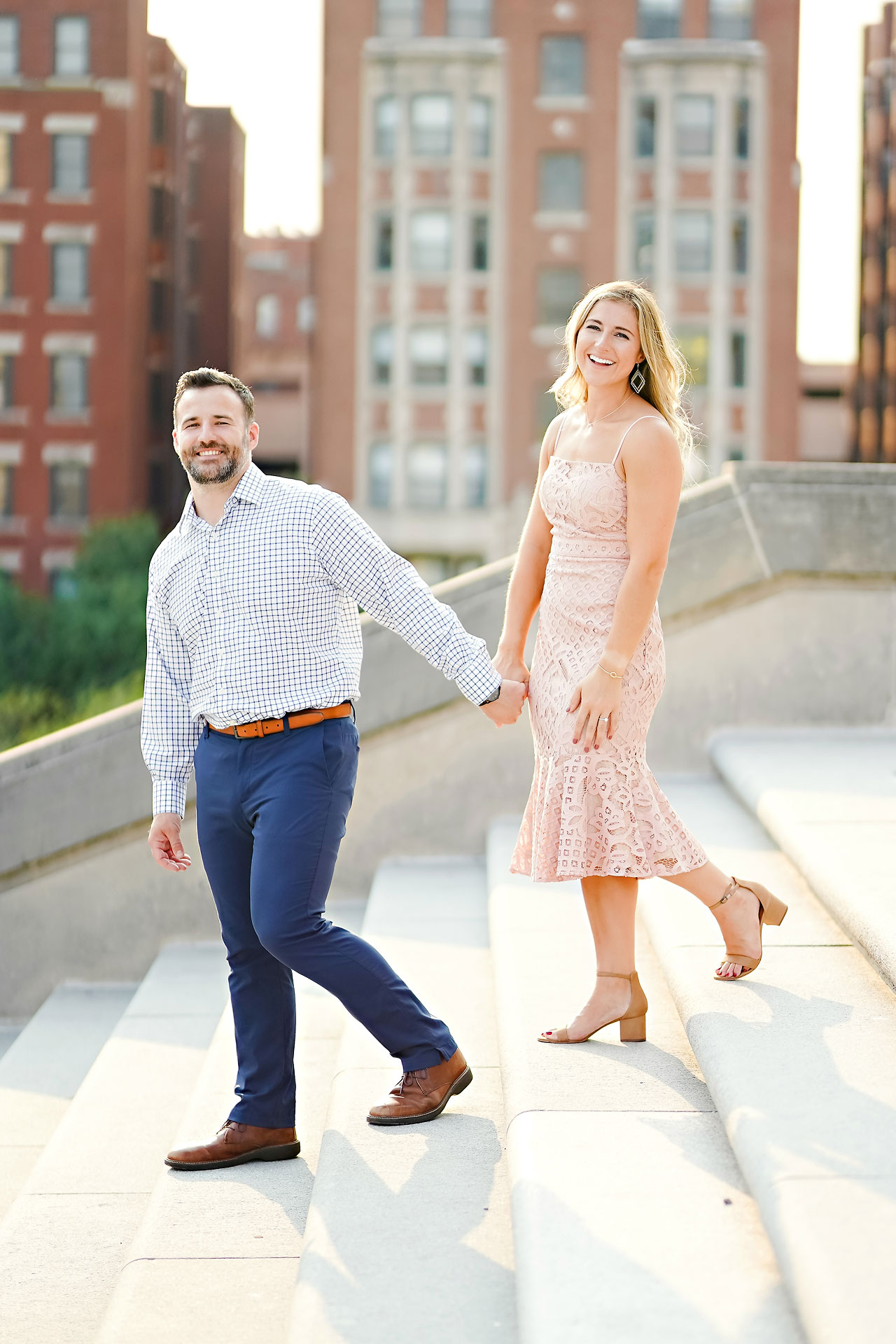 Kendall Jake Downtown Indianapolis Engagement Session 021