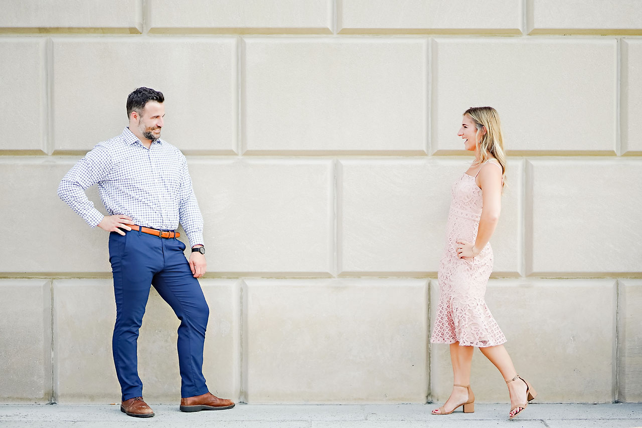 Kendall Jake Downtown Indianapolis Engagement Session 032
