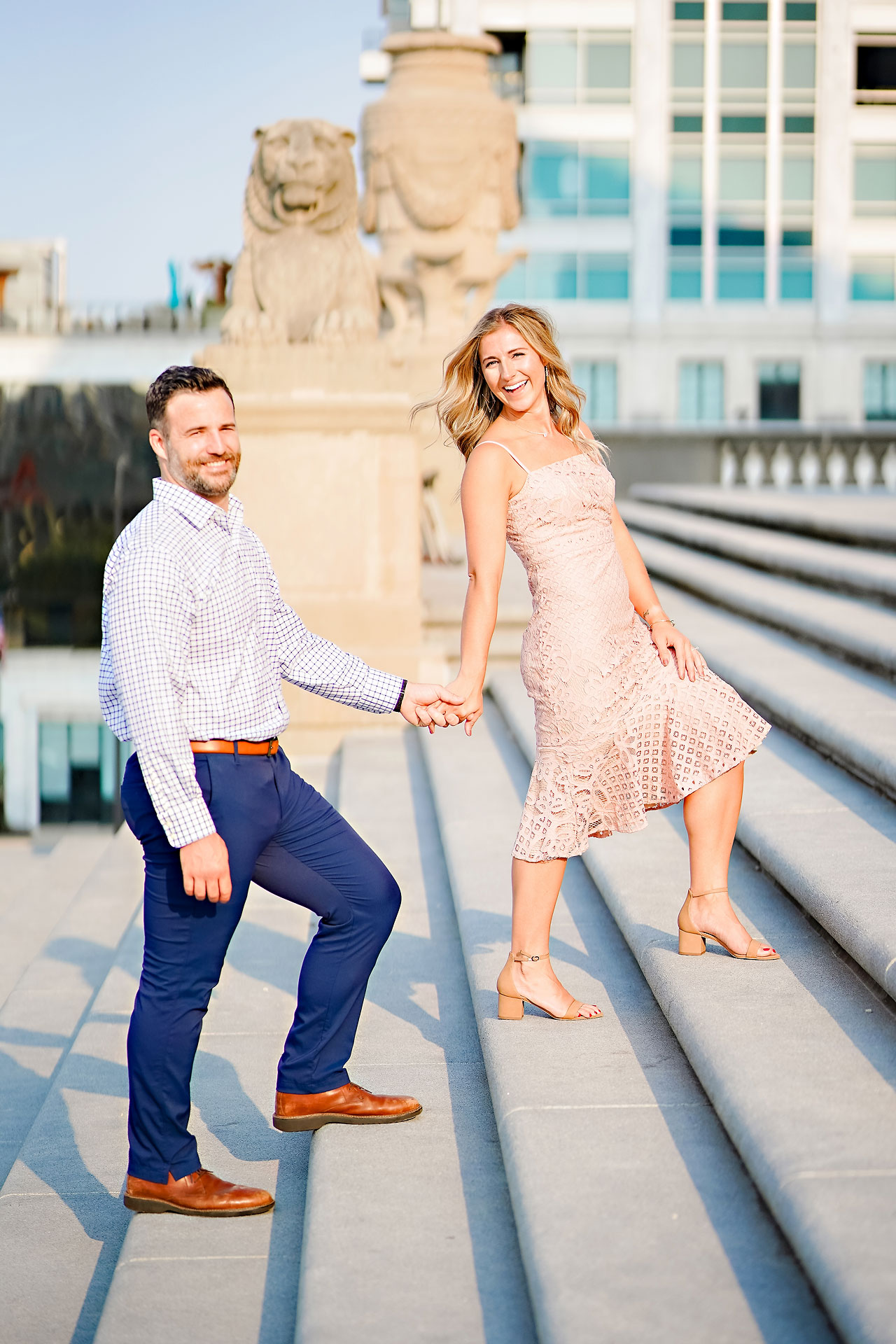 Kendall Jake Downtown Indianapolis Engagement Session 039