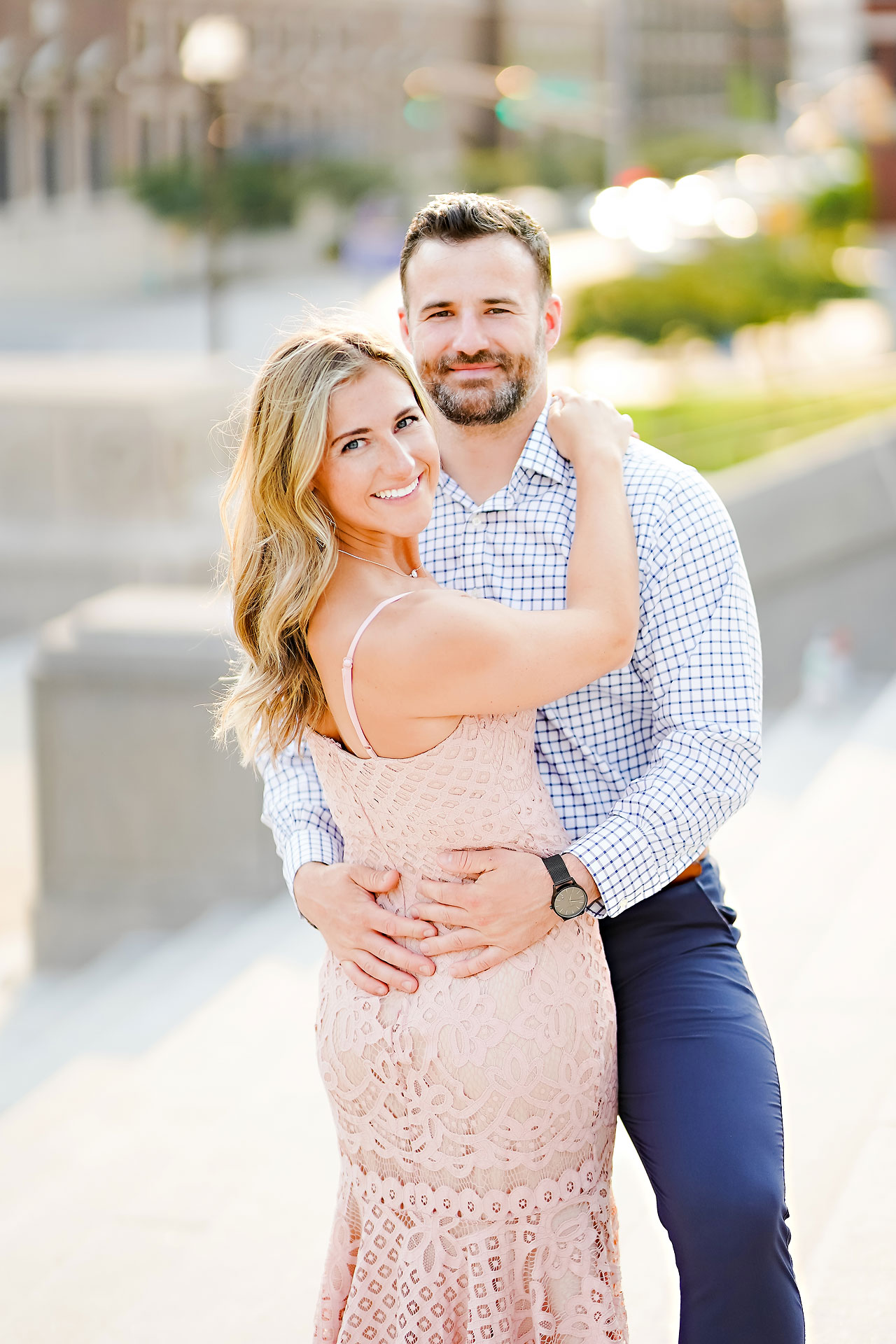 Kendall Jake Downtown Indianapolis Engagement Session 043