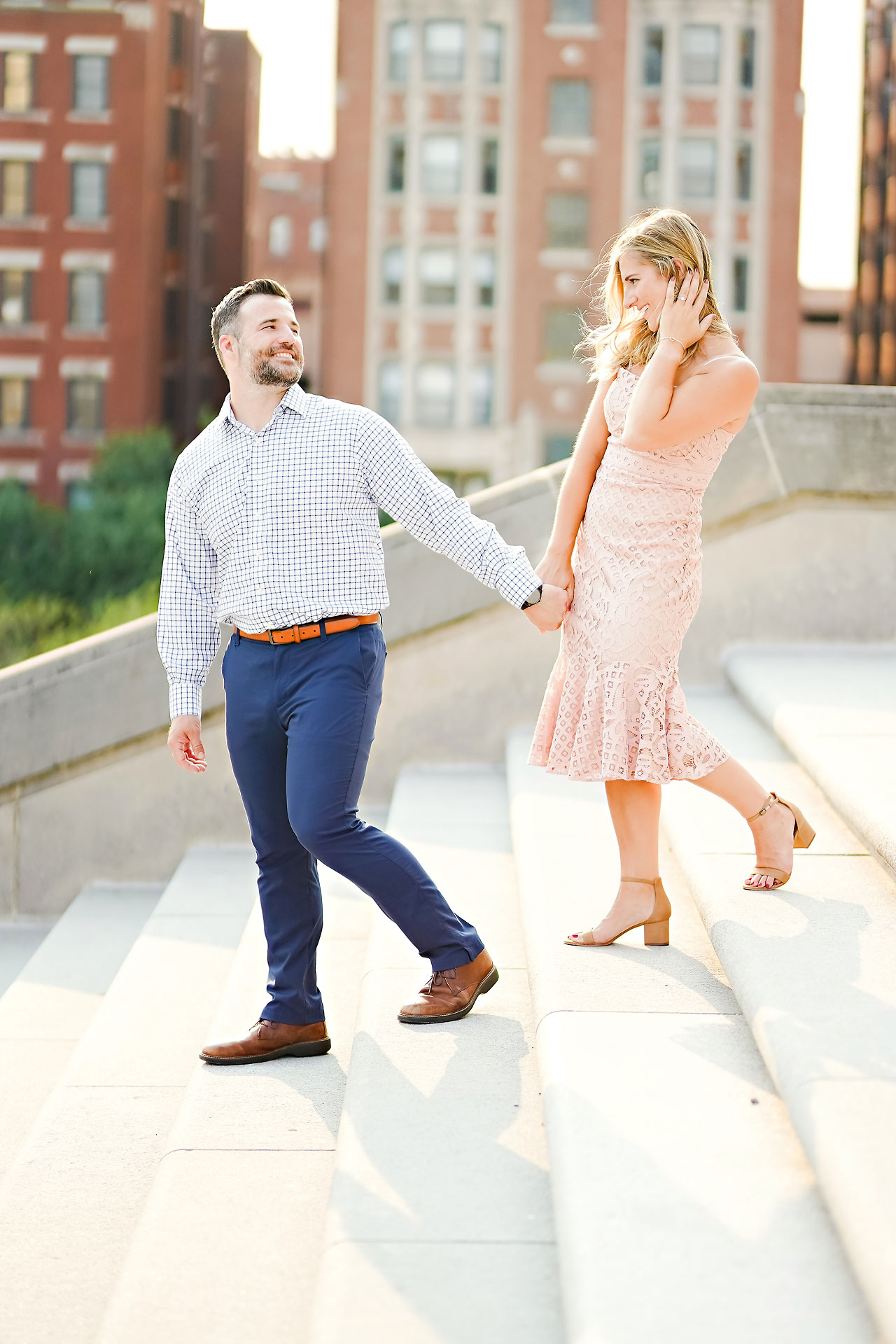 Kendall Jake Downtown Indianapolis Engagement Session 047