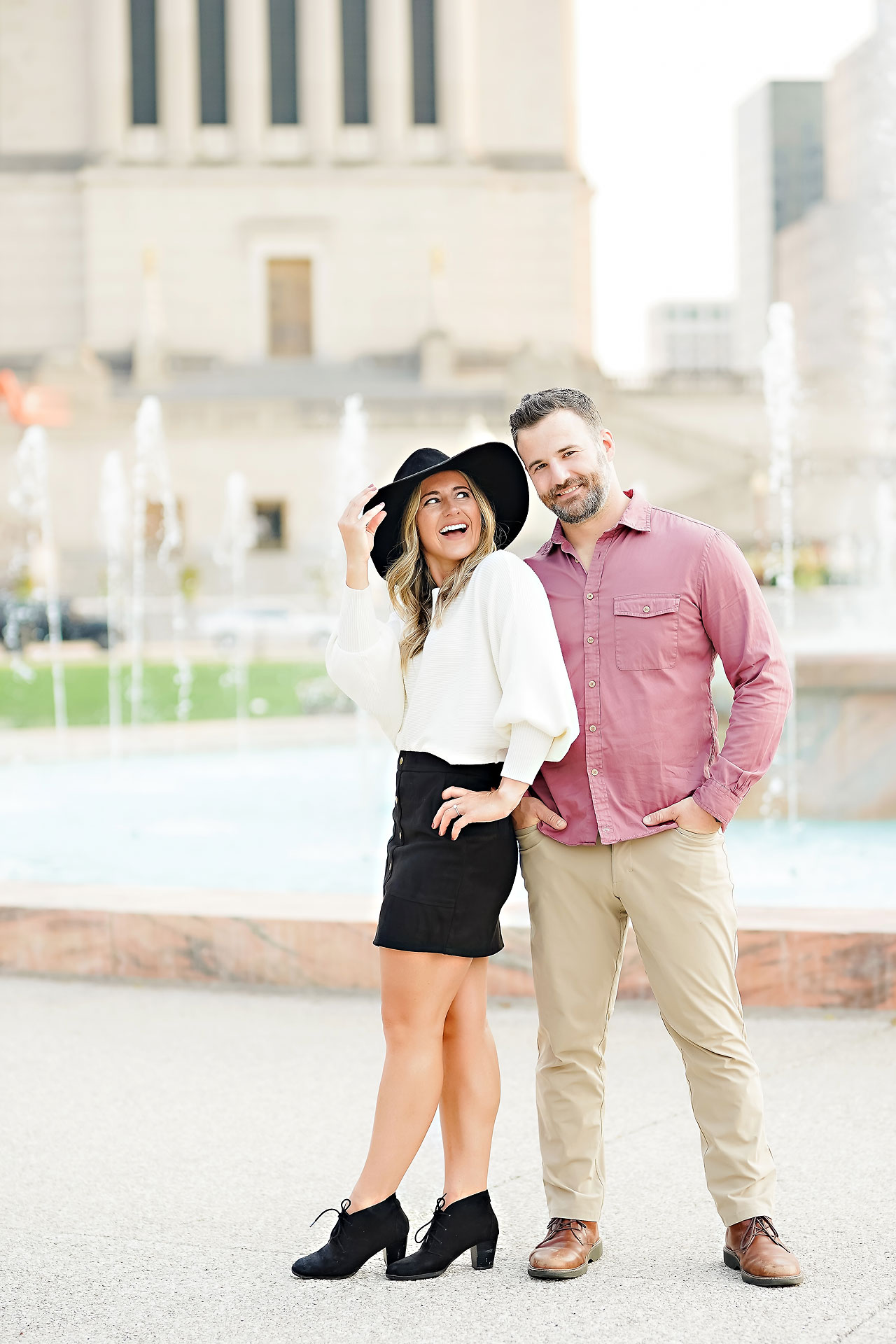 Kendall Jake Downtown Indianapolis Engagement Session 056