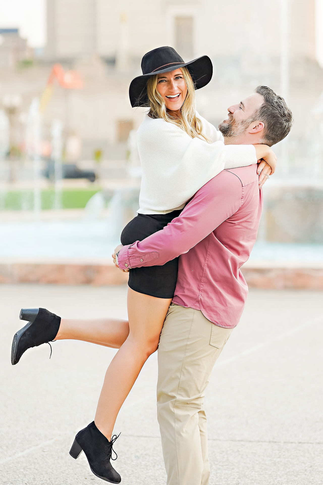 Kendall Jake Downtown Indianapolis Engagement Session 060