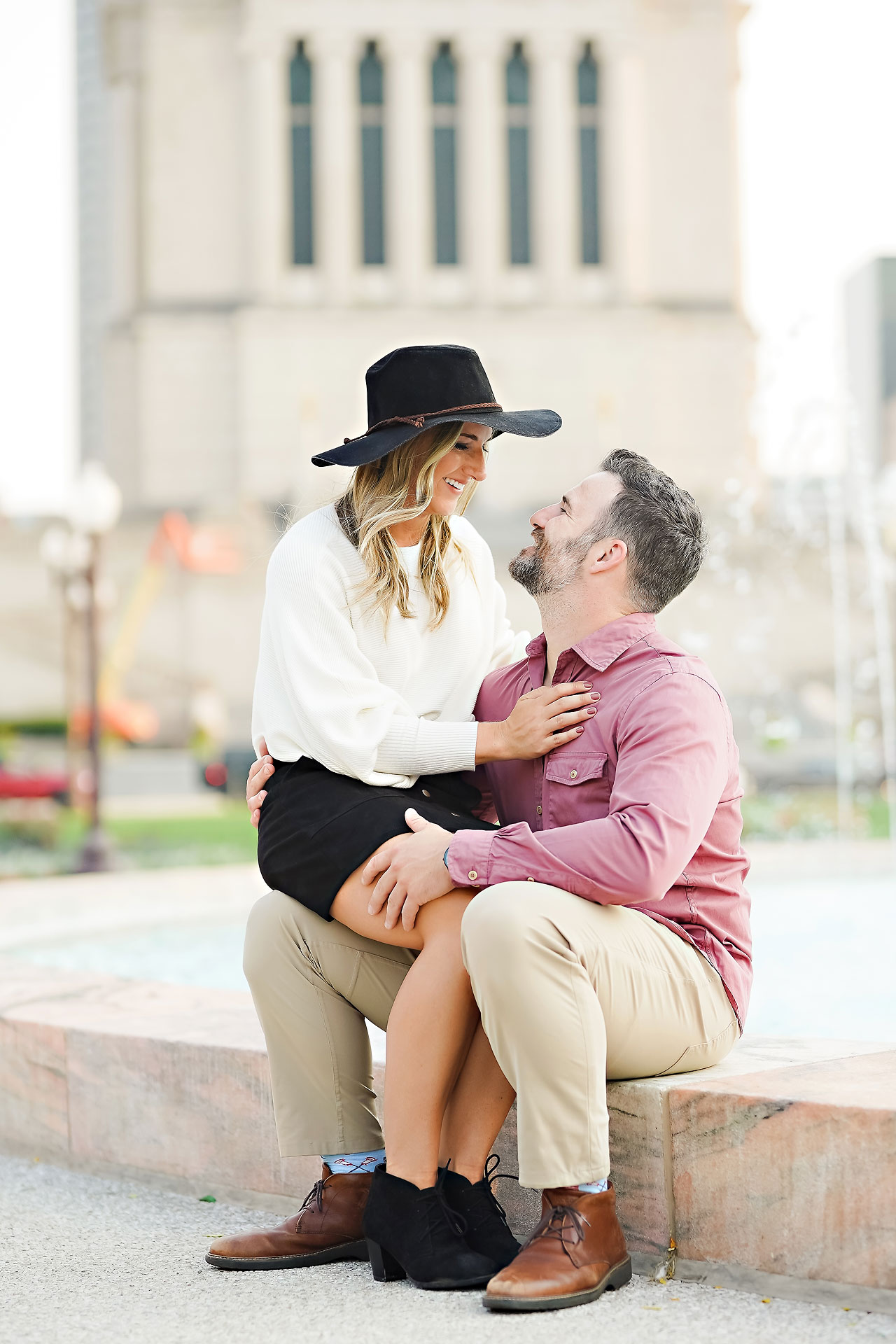 Kendall Jake Downtown Indianapolis Engagement Session 061