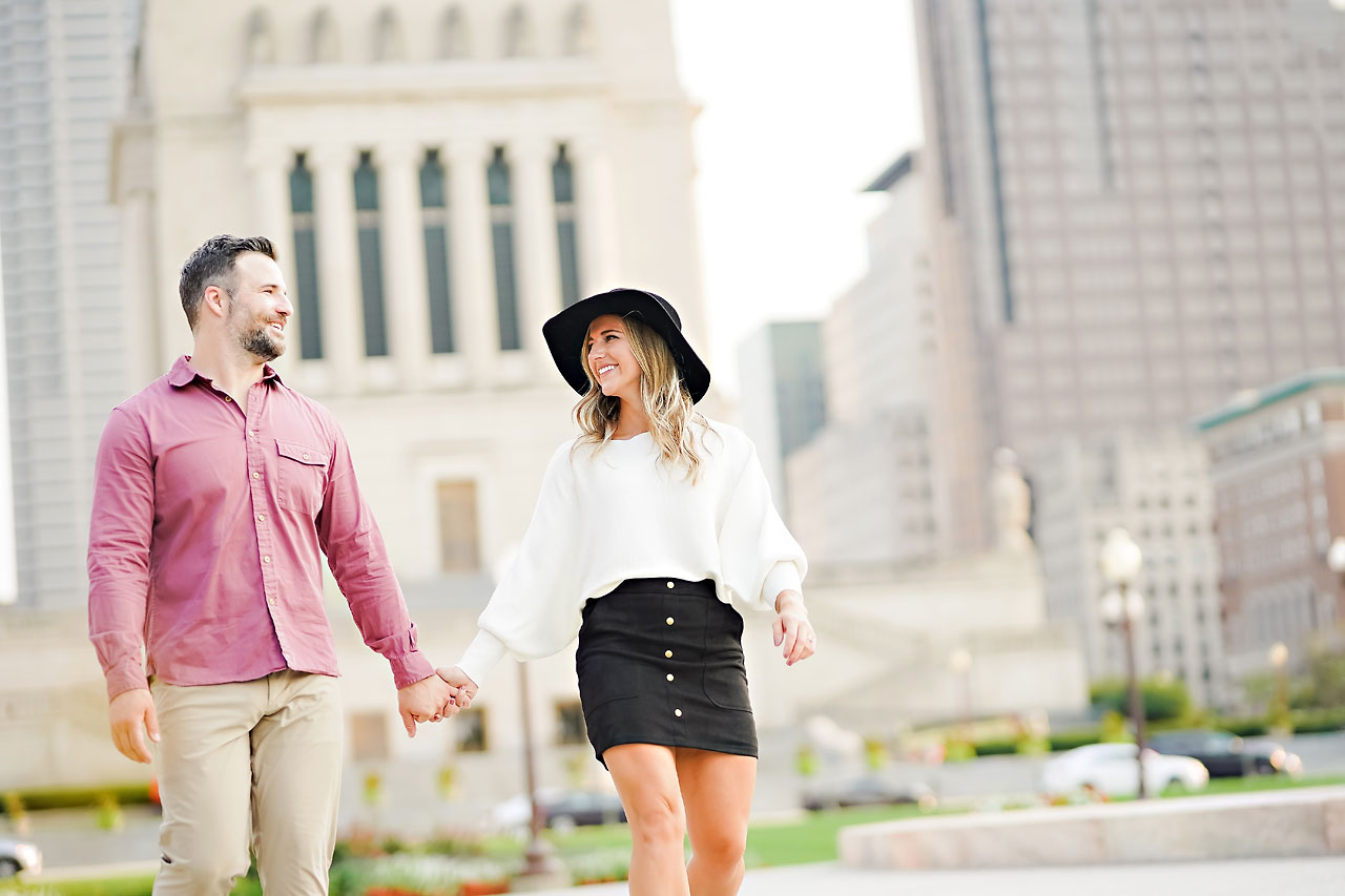 Kendall Jake Downtown Indianapolis Engagement Session 067