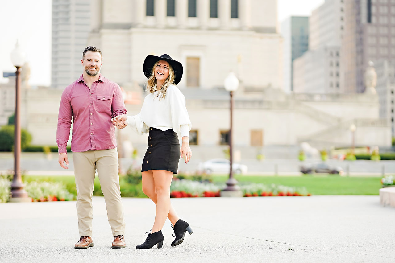 Kendall Jake Downtown Indianapolis Engagement Session 069