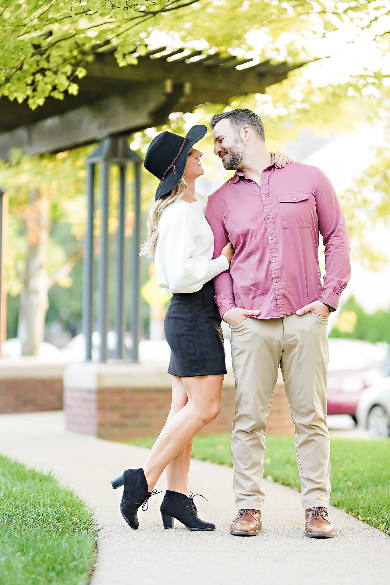 Kendall Jake Downtown Indianapolis Engagement Session 072