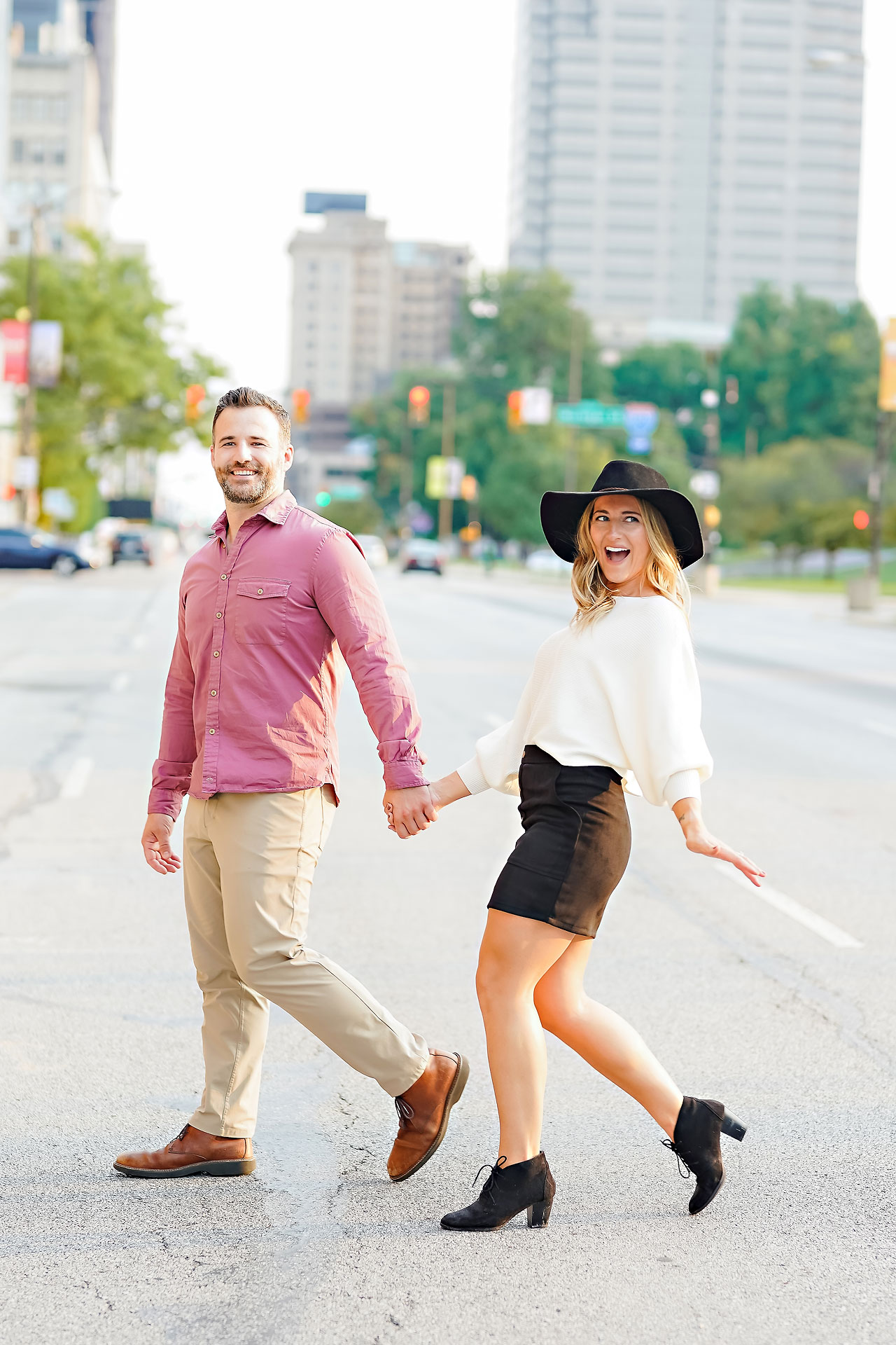 Kendall Jake Downtown Indianapolis Engagement Session 075