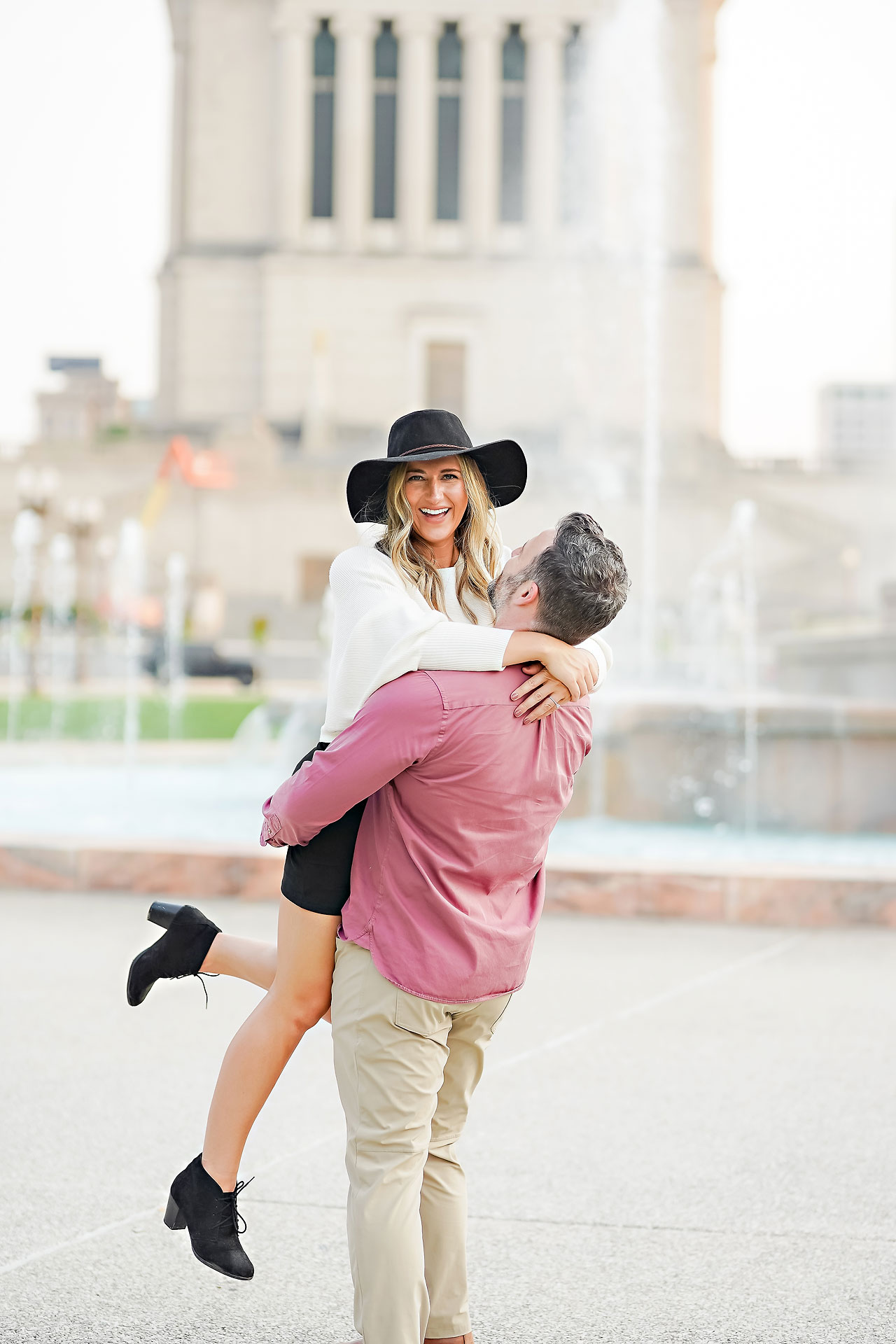 Kendall Jake Downtown Indianapolis Engagement Session 077