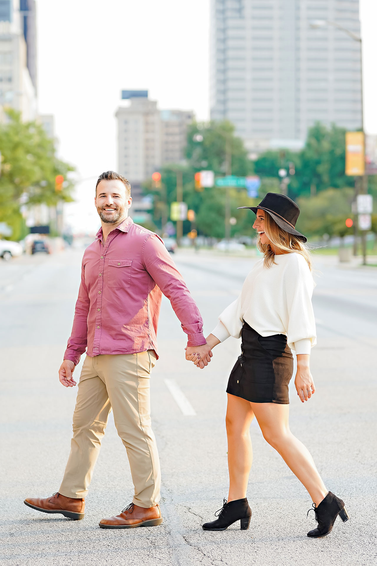 Kendall Jake Downtown Indianapolis Engagement Session 079