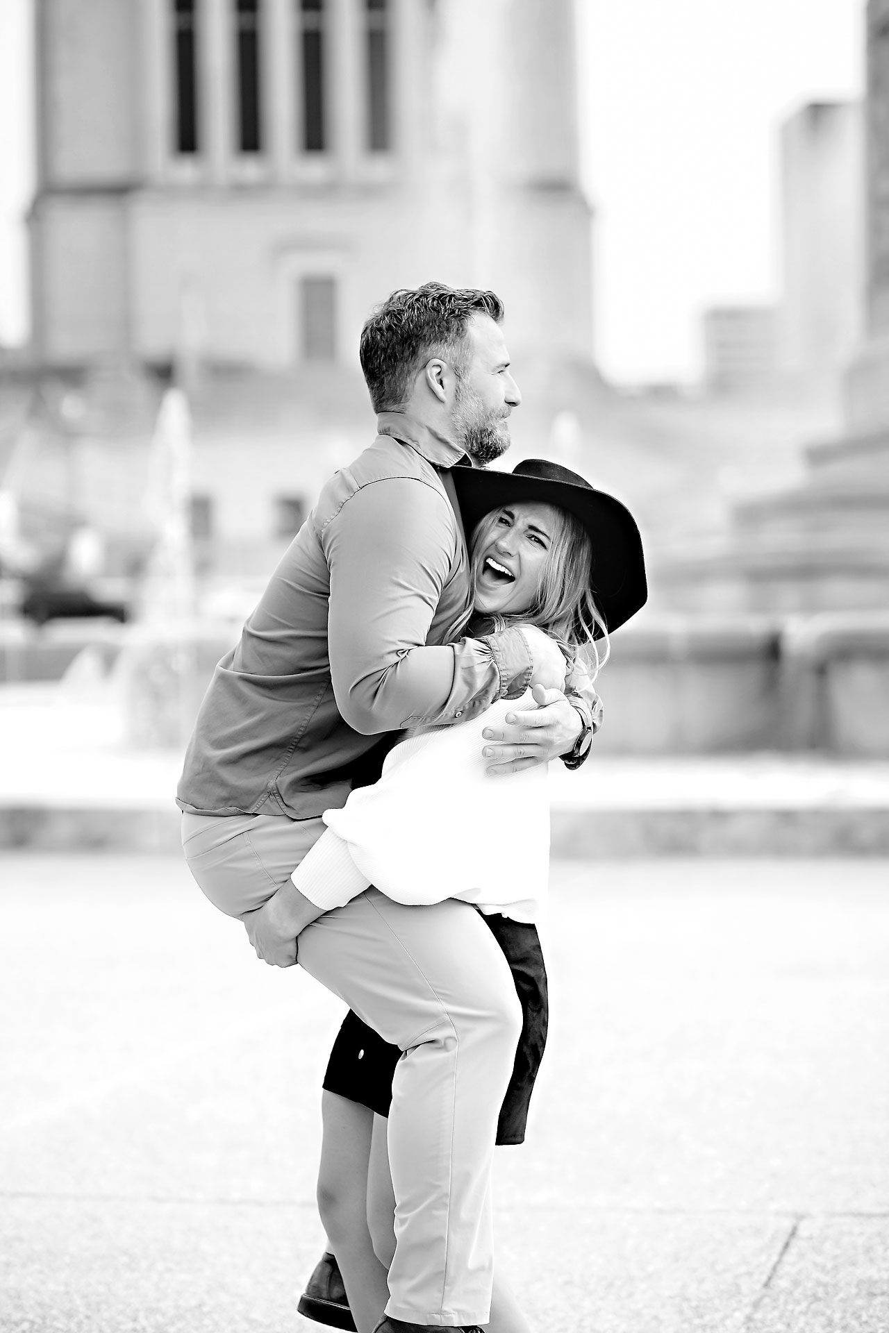 Kendall Jake Downtown Indianapolis Engagement Session 083