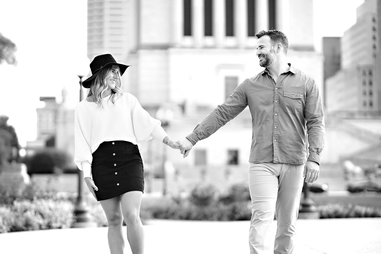 Kendall Jake Downtown Indianapolis Engagement Session 085