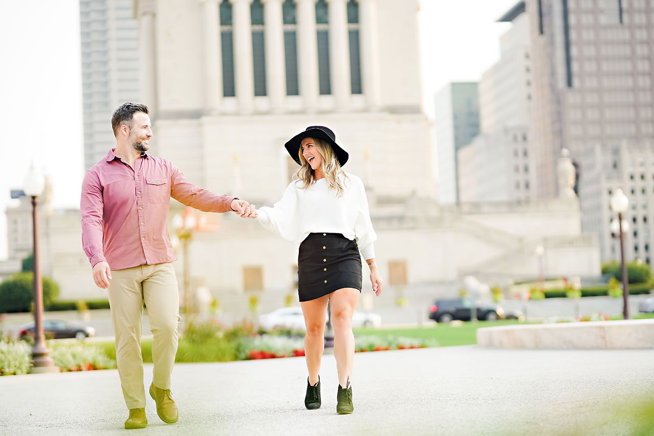 Kendall Jake Downtown Indianapolis Engagement Session 086