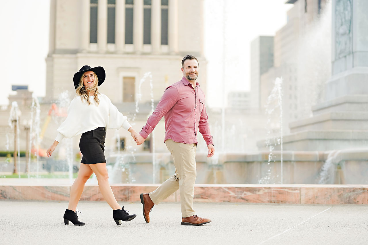 Kendall Jake Downtown Indianapolis Engagement Session 088
