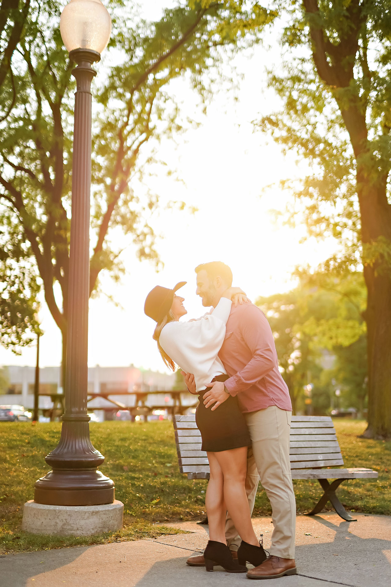 Kendall Jake Downtown Indianapolis Engagement Session 090