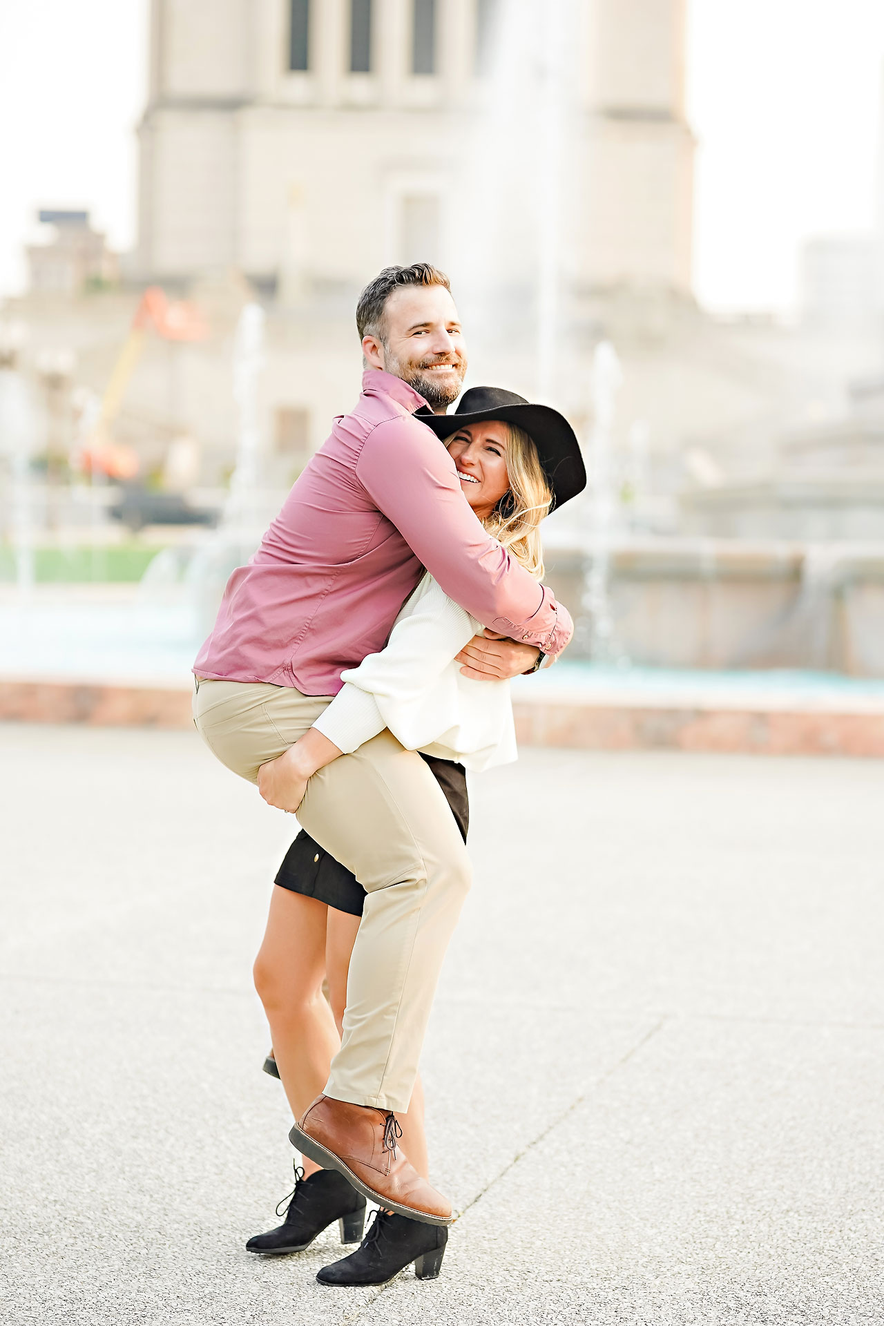 Kendall Jake Downtown Indianapolis Engagement Session 091