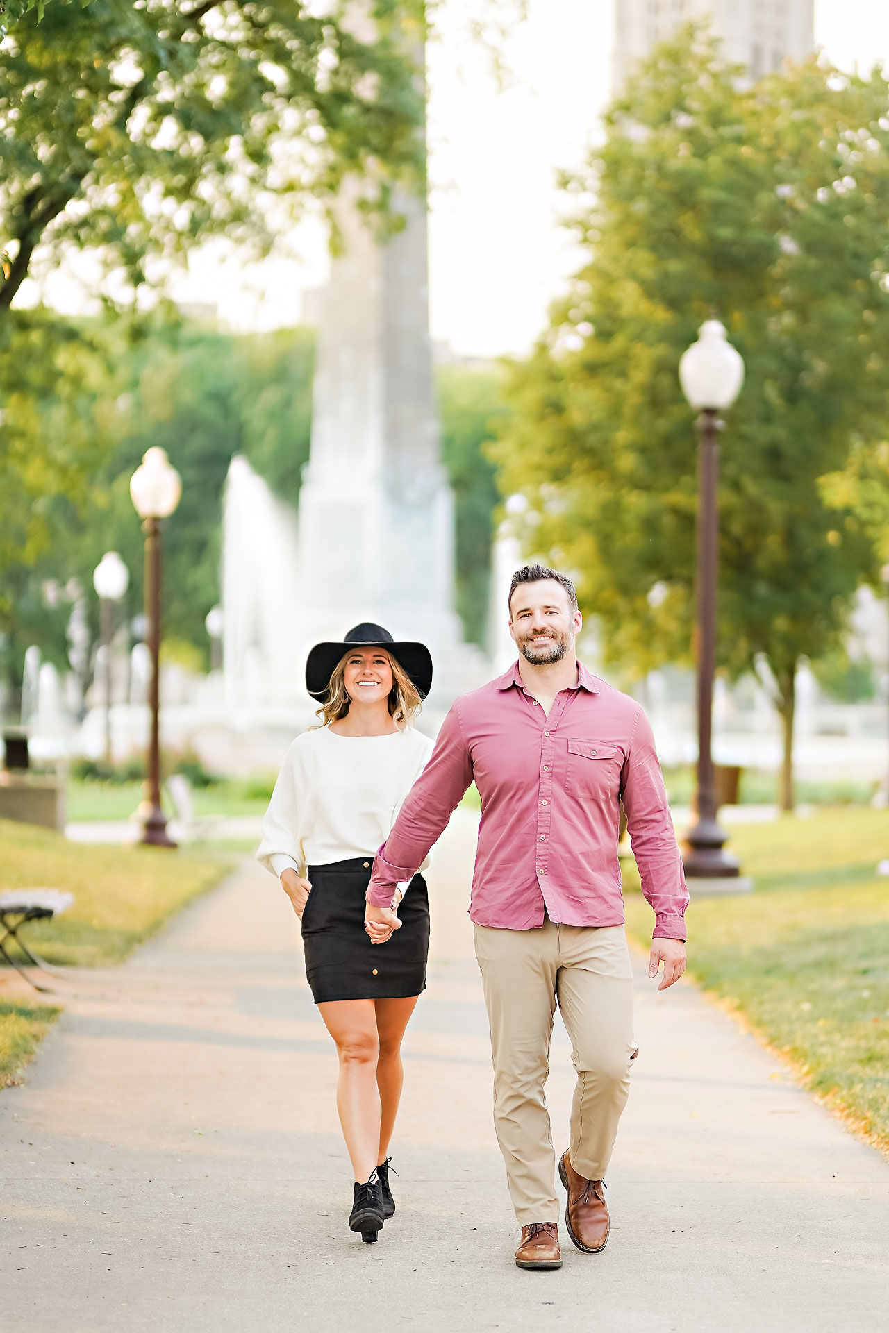 Kendall Jake Downtown Indianapolis Engagement Session 092