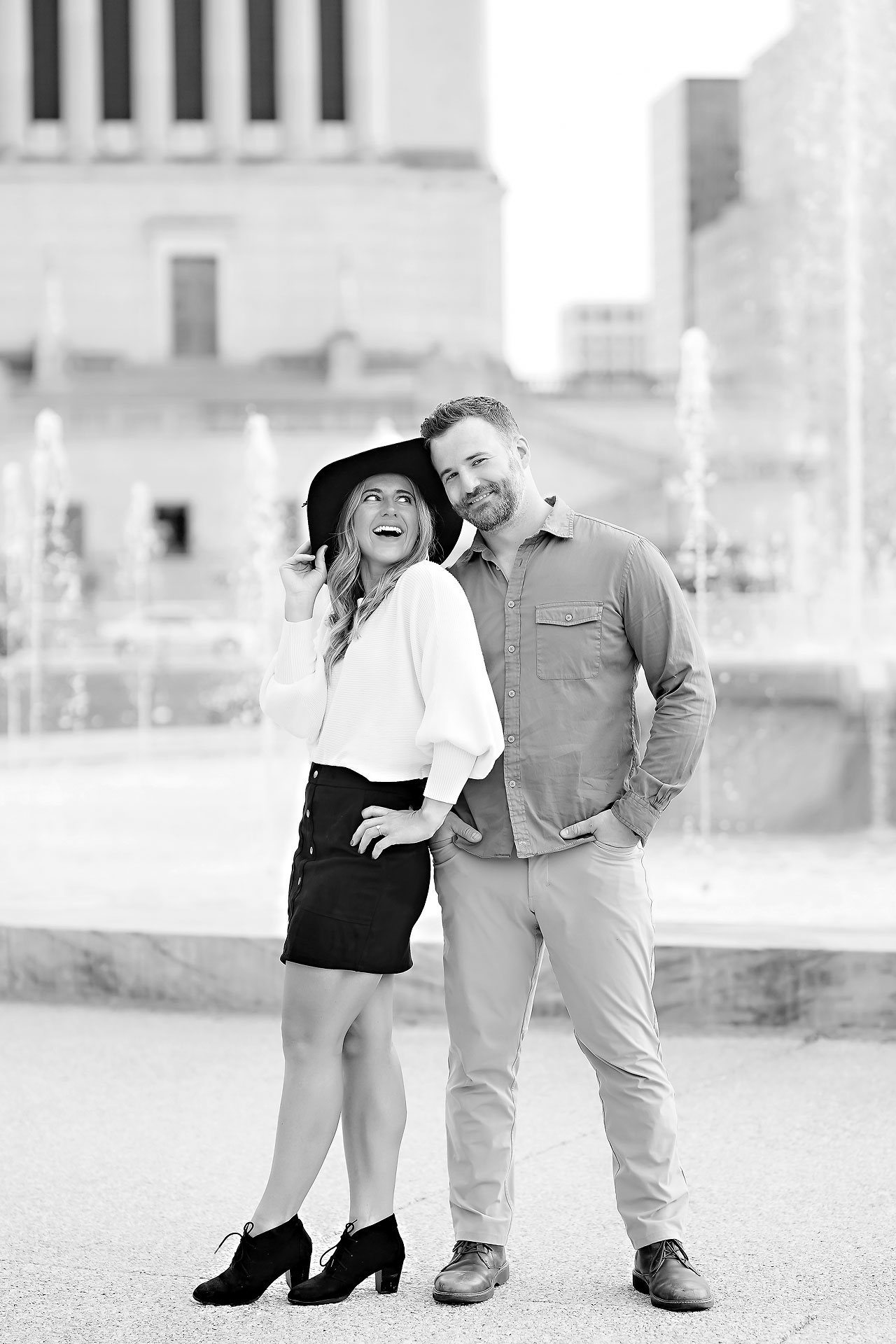 Kendall Jake Downtown Indianapolis Engagement Session 093