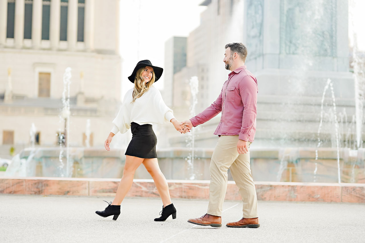 Kendall Jake Downtown Indianapolis Engagement Session 095
