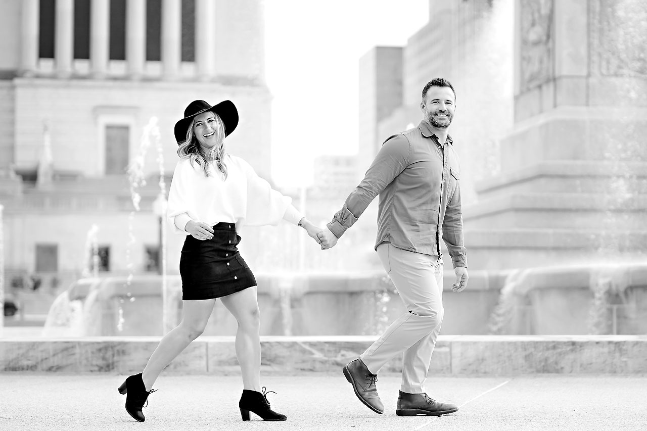 Kendall Jake Downtown Indianapolis Engagement Session 097