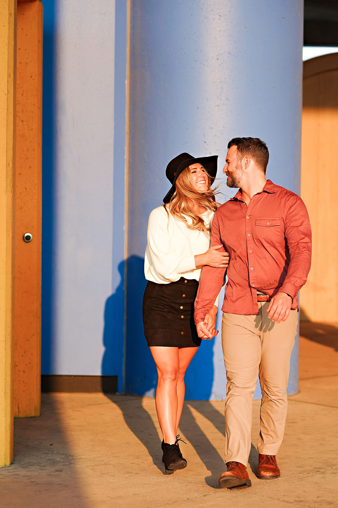 Kendall Jake Downtown Indianapolis Engagement Session 098