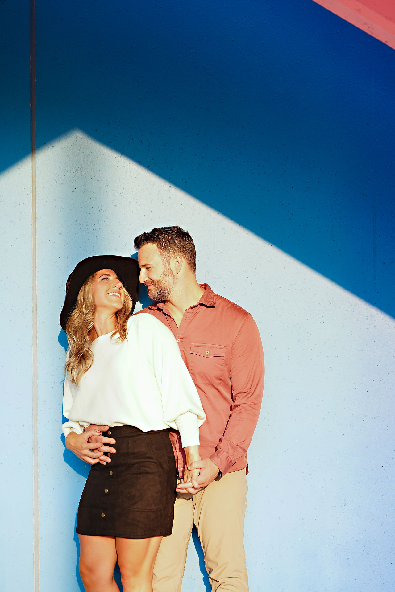 Kendall Jake Downtown Indianapolis Engagement Session 099
