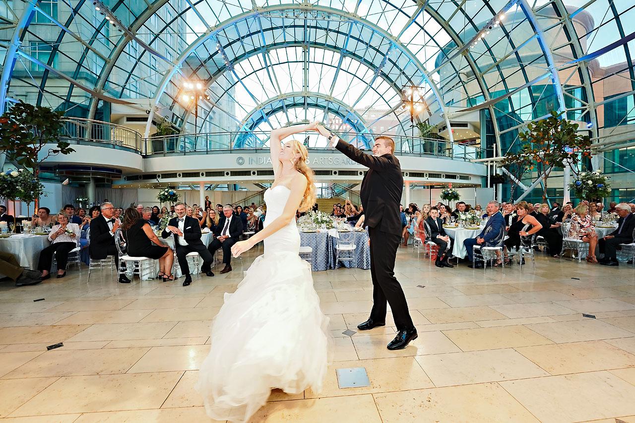 Liz Zach Conrad Artsgarden Indianapolis Wedding 259