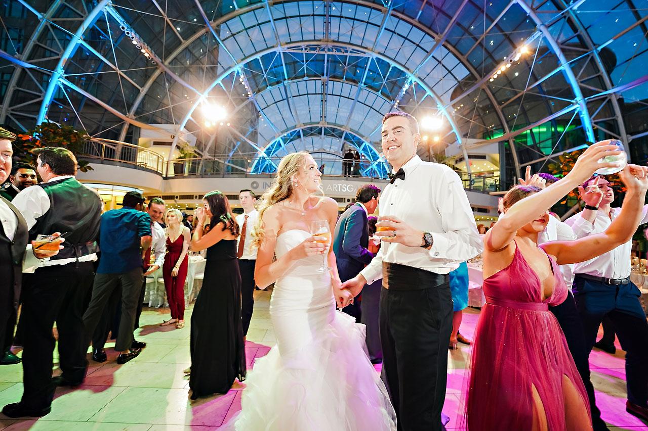 Liz Zach Conrad Artsgarden Indianapolis Wedding 292