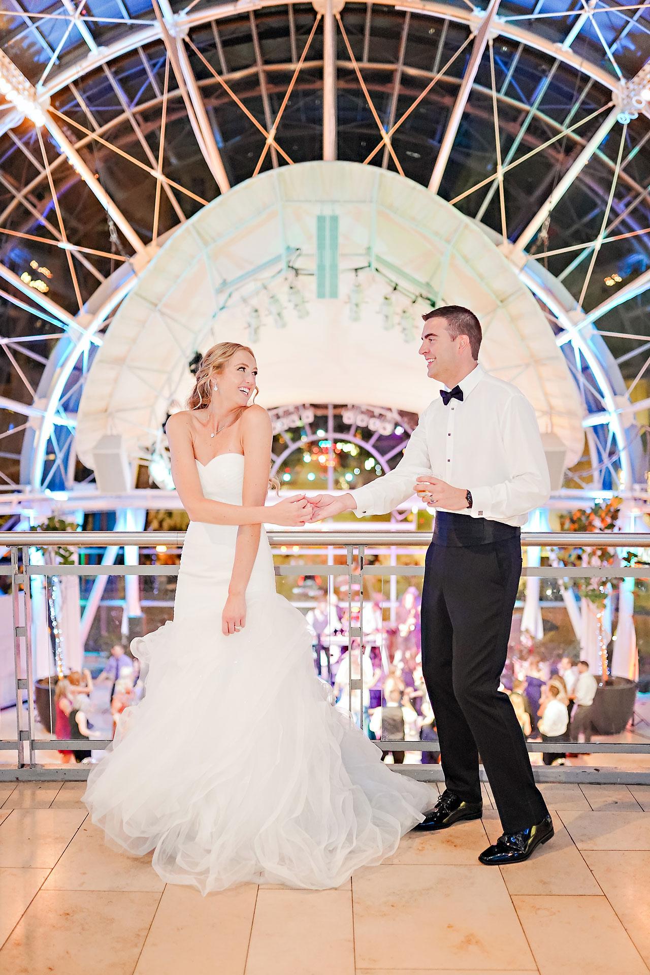 Liz Zach Conrad Artsgarden Indianapolis Wedding 307