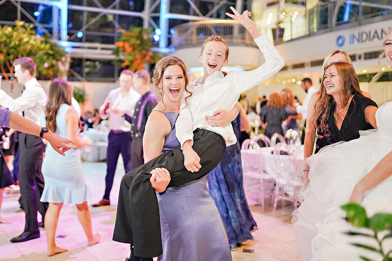 Liz Zach Conrad Artsgarden Indianapolis Wedding 320