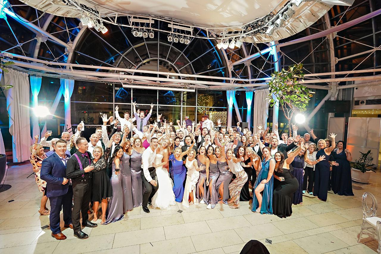 Liz Zach Conrad Artsgarden Indianapolis Wedding 331